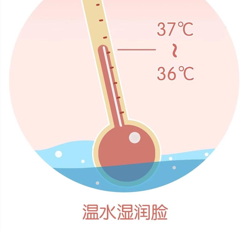 洗脸要用温水湿润脸