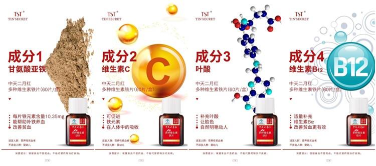 TST多种维生素铁片成分