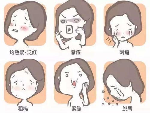 皮肤缺水5大症状